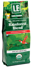 Life Extension Rainforest Blend Decaffeinated Ground Coffee (Natural) 12 Ounce