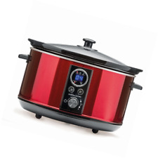 Andrew James AJ001388 280W 4.5L Digital Stainless Steel Slow Cooker - Red