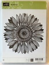 Stampin Up SUNFLOWER clear mount stamp NEW Flower background