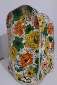 Vintage 60s-70's Stand Mixer Cover Plastic Vinyl Yellow Green Floral Kitsch