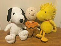 Kohl's Cares For Kids Peanuts Snoopy,Charlie Brown and Woodstock Stuffed Animals