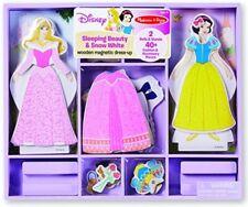 Kids Doll Dress Up Magnetic Wooden Princess Disney Toddler Toy Travel Girl New
