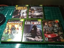 Xbox game lot great escape wreckless cold war without warning midnight club