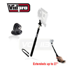"VidPro 27"" Extendable  Pocket Size Monopod MP-10 + Tripod Adapter FOR GOPRO"