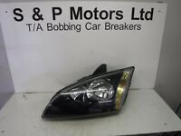 Ford Focus Mk2 05-07 NS Passenger Side Headlight Black 4M5113W030KD
