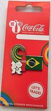 LONDON 2012 OLYMPICS COCA COLA BRAZIL FLAG PIN BADGE RIO 2016