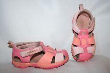 Merrell Girls Sandals Size 8 C Girls Pink White Sport Sandals Leather