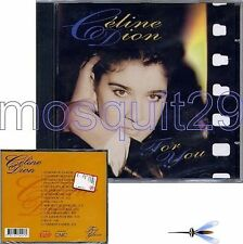 """CELINE DION """"FOR YOU"""" RARE CD MADE IN ITALY - SEALED"""