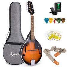 More details for kmise mandolin a style mandolins 8 strings kit with bag tuner picks string strap