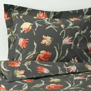 IKEA ALANDSROT Duvet Cover Set GRAY ROSE FLORAL TWIN FULL/QUEEN KING NEW FREESH