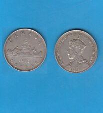 @ Canada Georgius V Silver Voyager Dollar Jubilee 1935  Silver Coin
