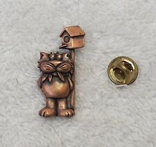 CLASSIC PIN BROOCH CAT FELINE KITTENS ANIMAL TABBY MEOW WHISKERS PURRING VL-CHO