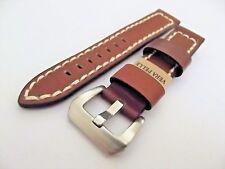 cinturino vintage artigianale pelle italy fibbia acciaio ansa 22 mm mod. aviator
