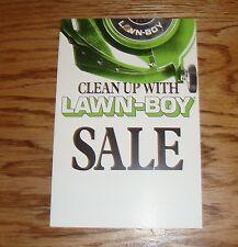 Original 1970s - 1980s Lawn Boy Mower Price Tag Card Sheet
