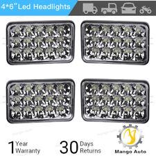 """4pcs 4X6"""" LED Headlights Hi/Lo Light Bulbs Sealed Beam Headlamp DRL Fog Light"""