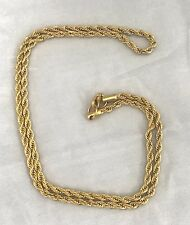6 Mm Width , 20 inch long 18K Gold Plated Rope Chain Necklace Warranty