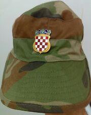 Croatian army,Croatian soldie peaked cap with badge - military hat - Very rarre