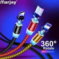 Marjay Magnetic Charger Cable Fast Charging Micro USB Type C Cable For iPhone Sa