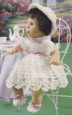 Crochet Pattern ~ DOLL DRESS, HAT, BOOTIES & BLOOMERS Jenny Doll ~ Instructions