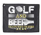 Funny Golf And Beer Golf Towel Gift Joke