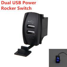 1x Dual USB ARB Rocker Switch Carling Backlit Blue LED 12V-24V Car Boat Charger
