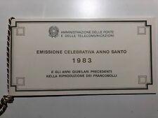Folder Libretto Emissione Celebrativa Anno Santo 1983 Holy Year Bianco CU P26