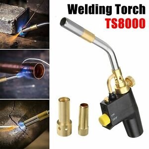 High Intensity Trigger Propane Start Brass Mapp Gas Torch For TS8000 + 2 Heads F