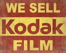 "10"" x 8"" WE SELL KODAK FILM CAMERA PHOTO PHOTOGRAPHS METAL PLAQUE TIN SIGN N478"