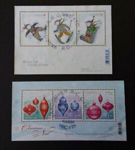 Canada 2008 & 2010 M/S 2580 & M/S 2701 - 2 Christmas M/S F.U.