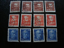 suiza - sello yvert y tellier n° 260 a 262 x4 matasellados (A14) stamp Suiza