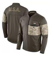 Nike 2017 New England Patriots Salute To Service STS Sideline Hybrid 1/2 Jacket