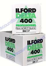 2 x ILFORD DELTA 400 35mm 36 exp CHEAP B&W CAMERA FILM FRESH by 1st CLASS POST
