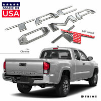 Chrome 3D Domed Raised Letters Inserts fits Toyota Tacoma 2016-2020 Tailgate