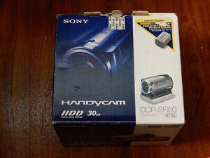 New in Open Box - Sony Handycam DCR-SR60 HDD Camcorder - SILVER - 027242698970