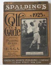 1925 Spalding's Golf Guide Bobby Jones  Cover