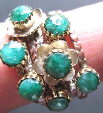 beweglicher Smaragd-Ring, 7-Teile, 925er Sil., Gr.53