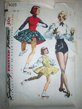 1950's Tap Dance trunks blouse skating outfit pattern 4035 size teenage 12