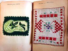 ANTIQUE ALBUM OF TEXTILE SAMPLES OF SEWING MACHINE VARIANTS DIFFERENT CIRCA 1920