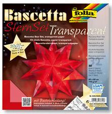 Bascetta-stern Transparentpapier 30x30cm rot