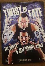 WWE - Twist of Fate: The Matt and Jeff Hardy Story (DVD, 2008, 2-Disc Set) Mint!