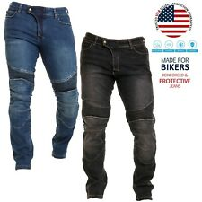 Mens Motorbike Aramid Protective Biker Denim Pants Slim fit Touring Denim Jeans