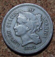 Usa 1874 3 Three Cents