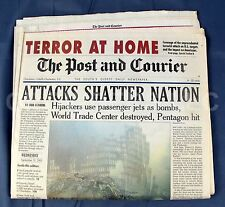 Complete Post & Courier September 12, 2001 Newspaper Terror at Home 9/11 Attacks