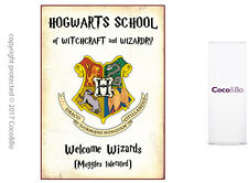 Coco&Bo 1 x Welcome Wizards Party Sign - Hogwarts School Harry Potter Decoration