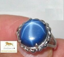 8 ct. Flashing Star Sapphire Silver Ring