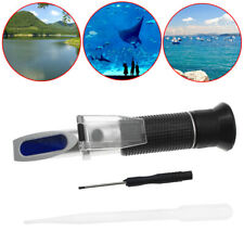New 0-10% Fish Tank Aquarium Salinity Refractometer Salt Water Tester Hydrometer