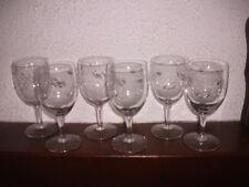 6 anciens verres à Eau en cristal des années 50