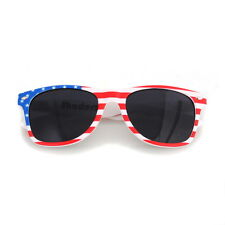 Shaderz American USA Flag WAYFARER Sunglasses Retro 80s Dark Lenses