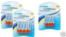 DIGIMAX*12 x AA/AAA RECHARGEABLE BATTERIES*2850 MAH AA