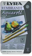 12 x LYRA REMBRANT Aquarell Set Artista IDROSOLUBILE Matite Colorate Regalo Tin